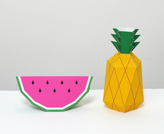 3D-Bastel-Obst