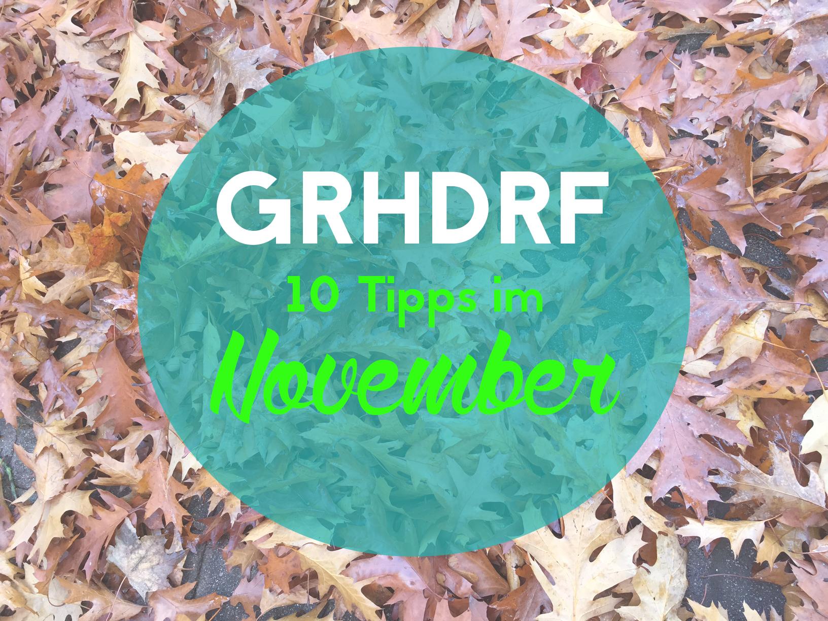 Tipps im November